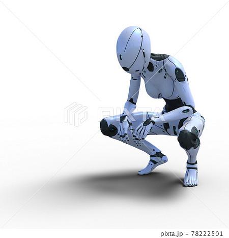 AIロボット 女性型アンドロイド perming3DCG イラスト素材 78222501