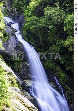 佐賀県唐津市の美しい見帰りの滝 78223101
