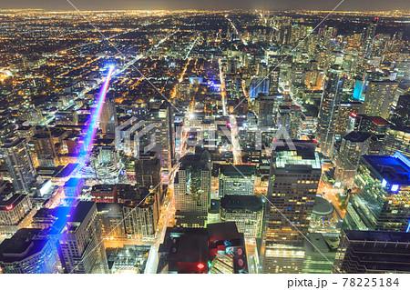 カナダ_CNタワーから見るトロントの夜景 78225184