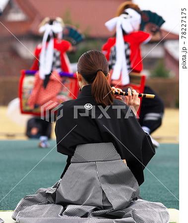 鬼剣舞を踊る子供たち 78227175