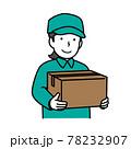 荷物を持つ配達員  78232907