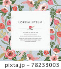 Vector illustration of a beatiful floral frame in spring for Wedding, anniversary, birthday and party. Design for banner, poster, card, invitation and scrapbook  78233003