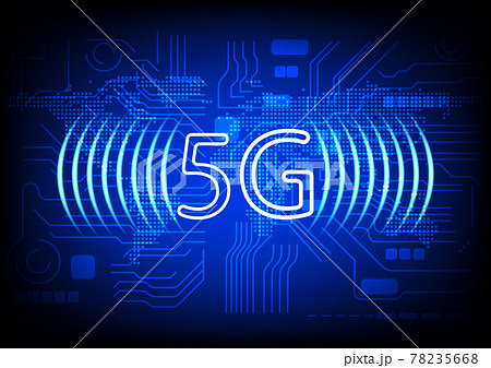 image graphics technology 5G network world global network concept networking connection technology vector illustration 78235668