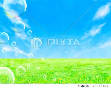 草原と青空(エコイメージ) 78237405
