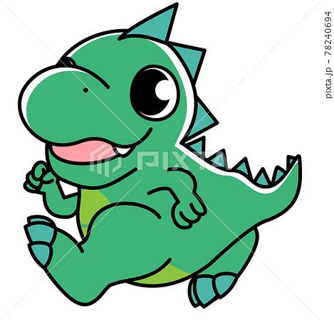 恐竜 ティラノサウルス かわいい シンプル イラスト素材 78240694