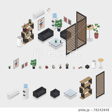 オフィス用品3 客室、待合室  Office supplies part3 78242848
