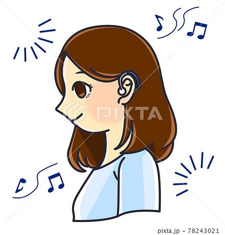 補聴器を装用する女性① 78243021