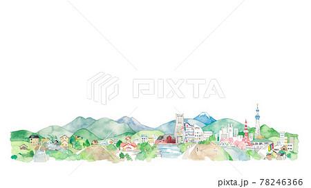 東京と横浜と里山の風景 78246366