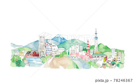 東京と横浜の風景 78246367