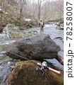 渓流釣り 後ろ姿 風景 ロッド、ベイトリール 78258007