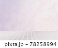 白いタイル 大理石の立体背景素材 78258994