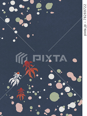 和風背景素材-飛沫-金魚【XLでA3size 350dpi】 78269722