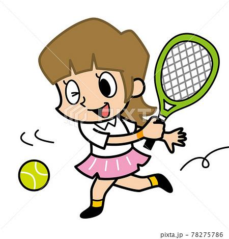 テニスをする女性 78275786