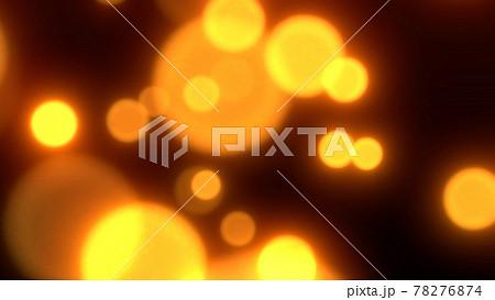 キラキラと輝く幻想的な金色の粒子 4K 78276874