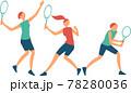テニスをする女性 78280036