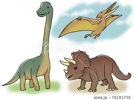 3種類の恐竜 78282756