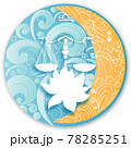 Libra horoscope sign in twelve zodiacs with astrology. Vector illustration 78285251