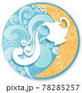 Aquarius horoscope sign in twelve zodiacs with astrology. Vector illustration 78285257