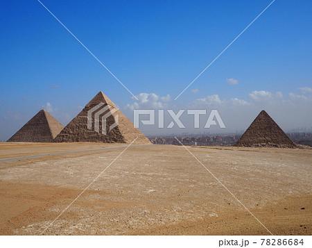 【世界遺産】エジプト ギザの三大ピラミッド 78286684