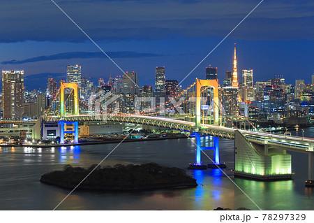 東京_お台場イルミネーション夜景 78297329
