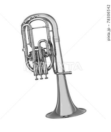 tuba isolated on white background 78306542