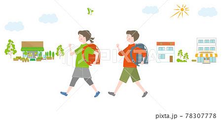 通学する子供 78307778