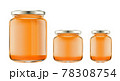 bottles with honey isolated 78308754