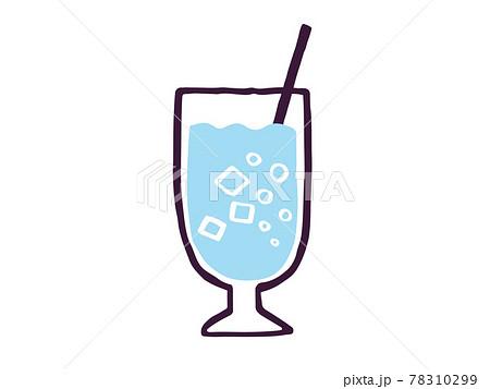 かわいいソーダジュース drink ドリンク/手書きイラスト素材 78310299