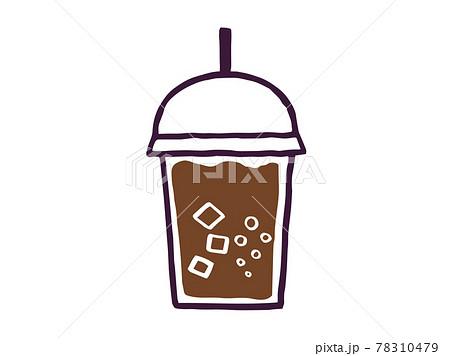 かわいいコーラ ジュース drink ドリンク/手書きイラスト素材 78310479