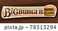 Vector banner for Big Burger 78313294