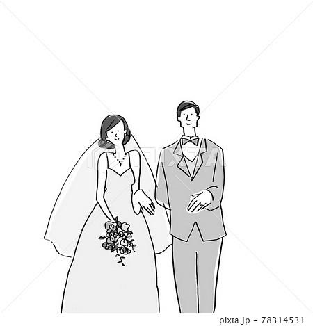 結婚指輪をはめた新郎新婦、ウエディング、結婚式B 78314531