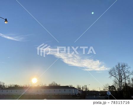 アメリカ ノースカロライナの広い空と雲 78315716