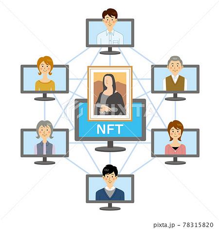 NFTで絵を販売する人々 78315820