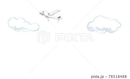 雲と飛行機 78318488