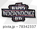 Vector greeting card for Independence Day 78342337