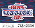 Vector greeting card for Independence Day 78342339