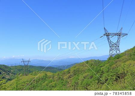 高圧送電線・烏帽子型鉄塔 78345858