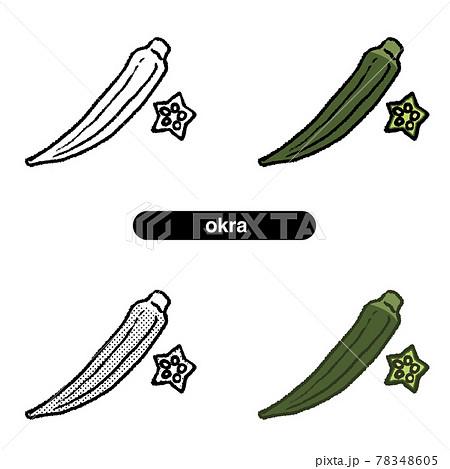 オクラ01-線画_カラー 78348605