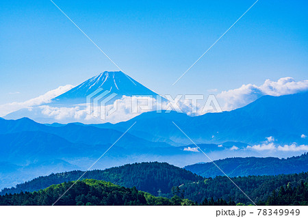 (山梨県)富士川町平林から望む富士山 78349949