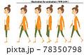 歩く若い女性 ママ 動画用素材  78350798
