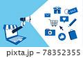 オンラインショップ、広告のコンセプトイラスト、ベクター 78352355