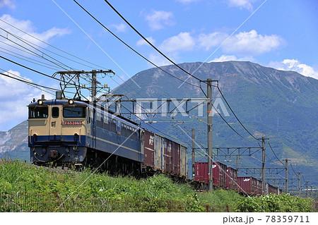 伊吹山と貨物列車 78359711
