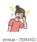 頭痛に苦しむ女性のイラスト 78362422