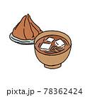 味噌と味噌汁のイラスト 78362424