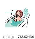 お風呂に入る若い女性のイラスト 78362430