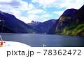 ソグネフィヨルドを観光するクルーズ船,ノルウェー 78362472
