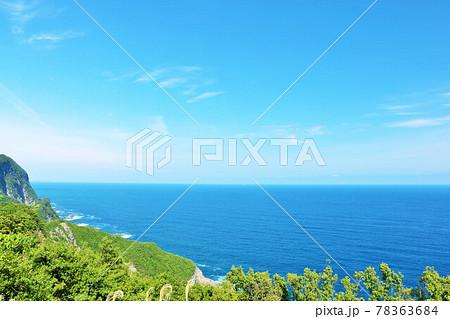 徳島県 青空と青い海の風景 78363684
