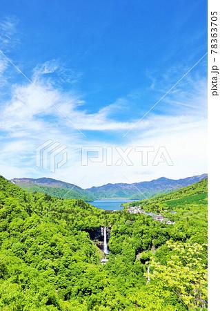 栃木県 初夏の青空 新緑の奥日光 78363705