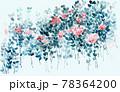 透明水彩 水彩画 花 78364200