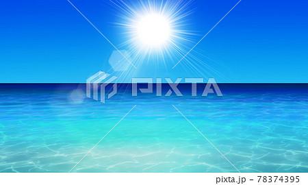 マリンブルーの海が広がるリゾート地 夏イメージ背景素材  78374395